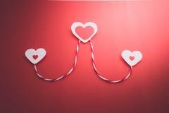 serca tapetują s valentine Zdjęcie Royalty Free