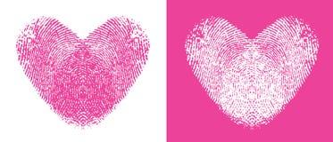 serca thumbprint Obrazy Royalty Free