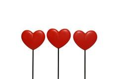 serca trzy Fotografia Royalty Free