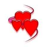 serca trzy Zdjęcie Stock