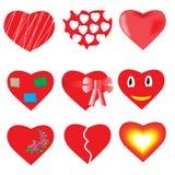 serca ustawiający Obraz Stock