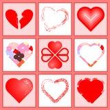 serca valentin Zdjęcie Stock