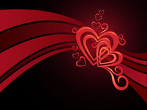 serca valentine Obrazy Royalty Free