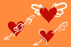 serca valentine s Obrazy Stock