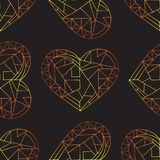 Serca wręczają patroszonego wektorowego bezszwowego wzór Walentynka dnia tło Miłości tekstura dla nawierzchniowego projekta, tkan ilustracja wektor