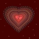 Serca z brylantami ilustracji