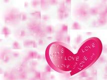 serca z miłością. Zdjęcia Stock
