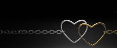 serce łańcuszkowi symbole Zdjęcia Stock