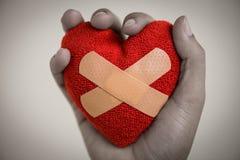 Serce łamający, dzień, miłości i walentynek pojęcie obrazy royalty free