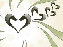 serce abstrakcjonistyczna karciana miłość ilustracja wektor