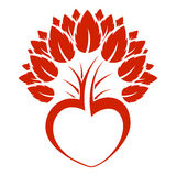 serce abstrakcyjne ikona logo drzewo royalty ilustracja