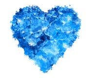 serce błękitny lód zdjęcie royalty free