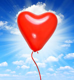 Serce balon Obrazy Royalty Free