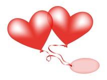 Serce balony Obrazy Stock