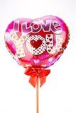 Serce balony Zdjęcia Stock