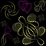 serce barwioni gradientowi przedmioty Fotografia Stock