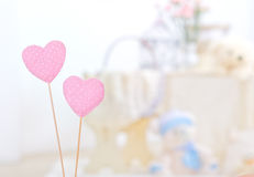 serce bawełniane menchie Fotografia Stock