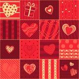 Serce bezszwowy różowy wzór ilustracji