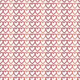 Serce bezszwowy wzór na białym tle ilustracji