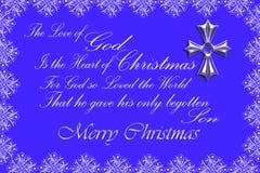 Serce boże narodzenia/błękit Zdjęcia Royalty Free