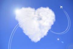 Serce chmura ilustracji