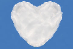 Serce chmura, teksta pudełko Zdjęcie Stock