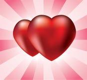 serce czerwień dwa Obraz Stock