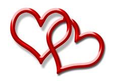 serce czerwień dwa ilustracji