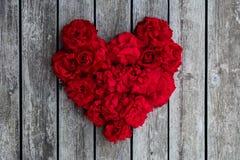 Serce czerwone róże Obraz Royalty Free
