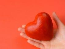 serce czerwone valentines rąk Zdjęcie Stock