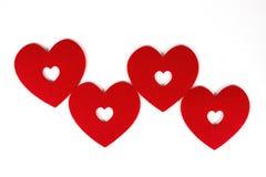 Serce Cztery zdjęcie stock