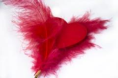 Serce dla valentines odizolowywał pięknego sztandaru tapetowego projekt Zdjęcia Royalty Free