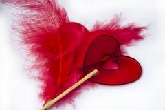 Serce dla valentines pięknego sztandaru tapetowego projekta Zdjęcie Royalty Free