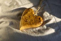 serce drewniany Fotografia Stock