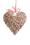serce drewniany zdjęcia stock