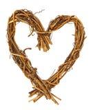 serce drewniany Obrazy Royalty Free