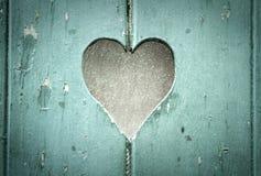 serce drewniany Obrazy Stock
