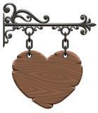 serce drewniany Zdjęcie Stock