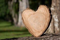 serce drewnianym Fotografia Stock
