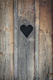 Serce drewno zdjęcie stock