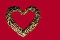 Serce drewno Obraz Stock