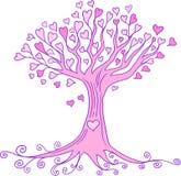 serce drzewa wektora Zdjęcia Stock