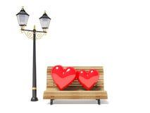 serce dwa Obrazy Stock
