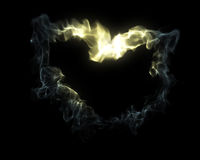 serce dym Zdjęcia Royalty Free