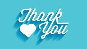 Serce Dziękuje Ciebie Karcianego Zdjęcie Stock