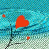serce fale Zdjęcie Stock