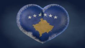Serce flaga Kosowo royalty ilustracja