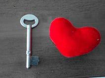 Serce i klucz Zdjęcie Royalty Free
