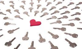 Serce i klucza pojęcie Obraz Stock