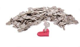 Serce i klucze Obraz Stock